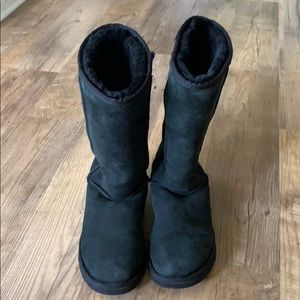 UGG Classic Tall Black Boots Women's Size 9